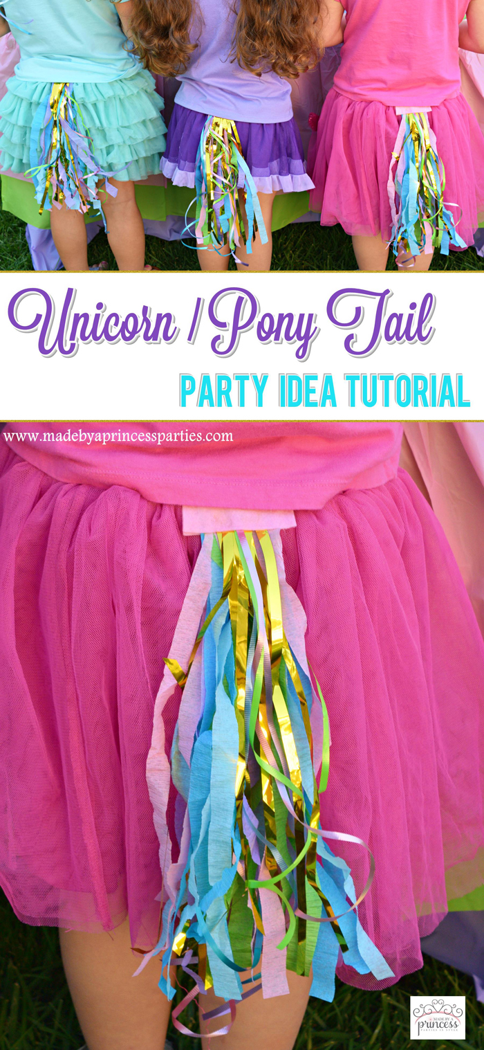 unicorn tail party idea tutorial pin it