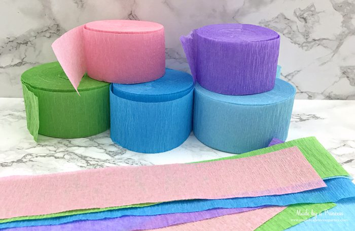 unicorn tail party idea tutorial supplies