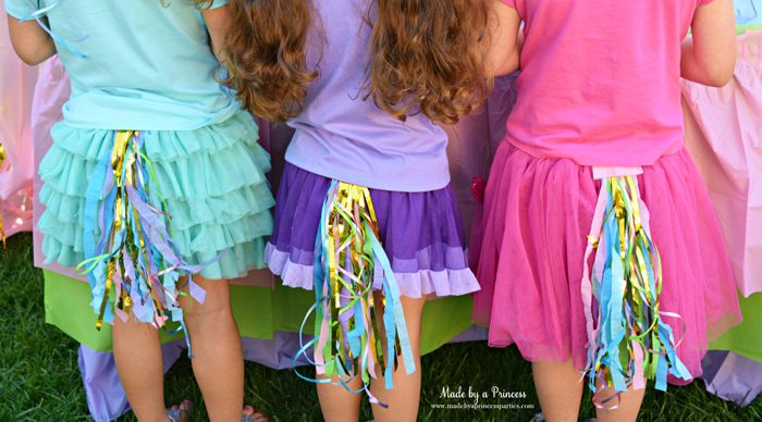 unicorn tail party idea tutorial trio of tails