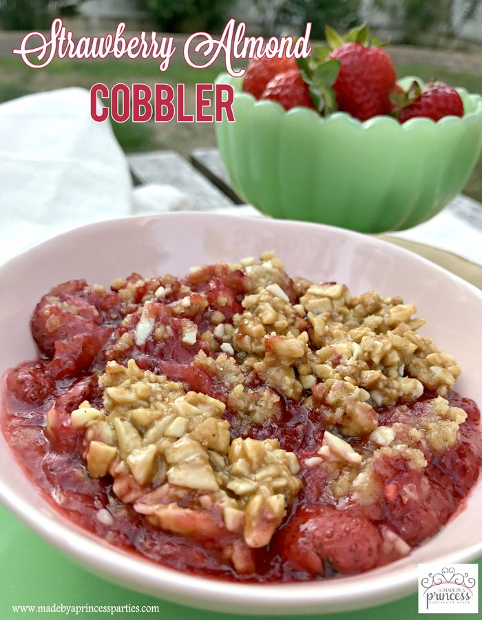strawberry almond cobbler | Made by a Princess
