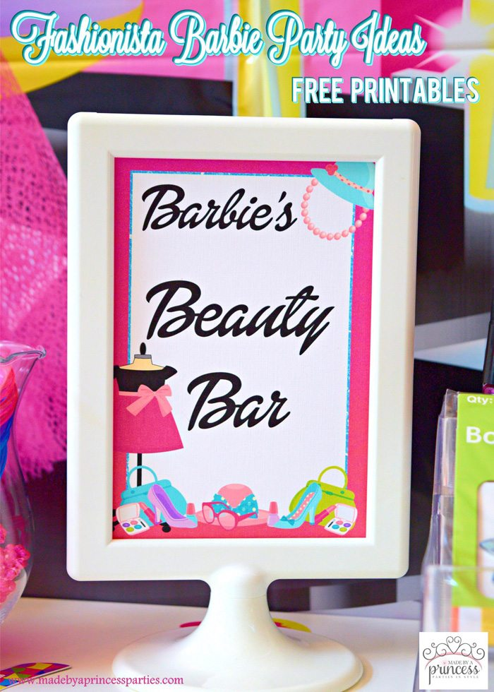 Fashionista Barbie Party Ideas - Made by a Princess #barbie #barbieparty