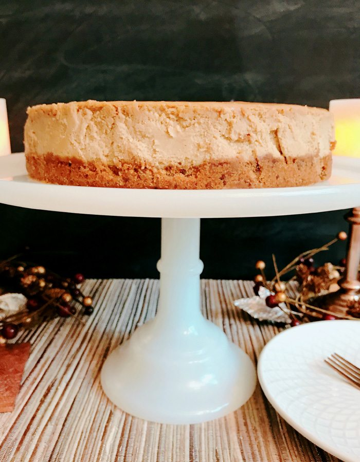 Gingerbread Cheesecake Dessert Recipe chill overnight for best results Made by a Princess no wm