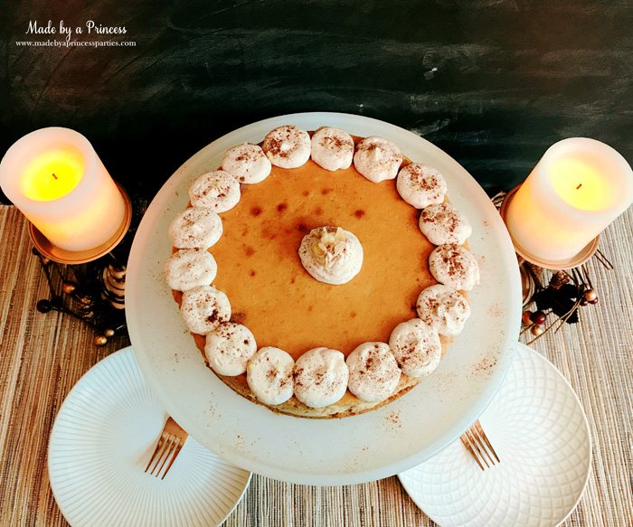 Gingerbread Cheesecake Dessert Recipe with cinnamon whipped cream Made by a Princess #gingerbreadcheesecake