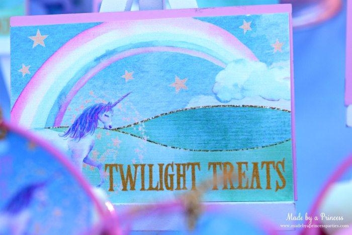 Unicorn Party Ideas Twilight Treats - Made by a Princess #unicorn #unicornparty