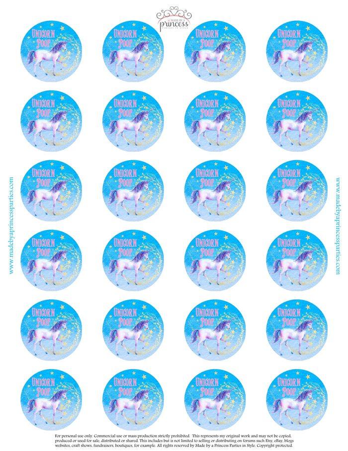 Unicorn Party Ideas Unicorn Poop Label - Made by a Princess #unicorn #unicornparty