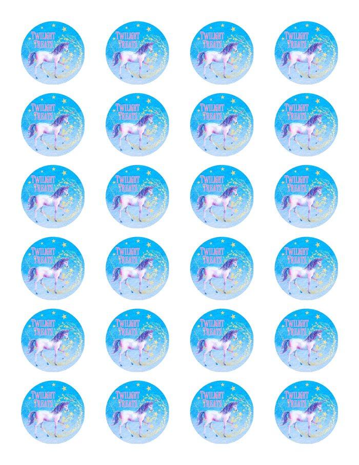 Unicorn Party Ideas Unicorn Twilight Treats Label - Made by a Princess #unicorn #unicornparty