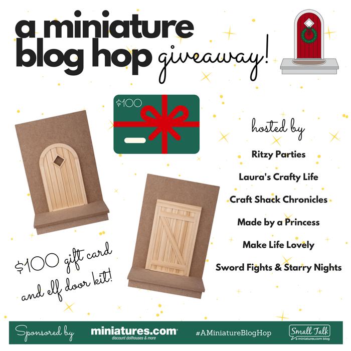 How to Create Your Own Tiny Elf Door Tutorial Blog Hop Giveaway 100 dollars