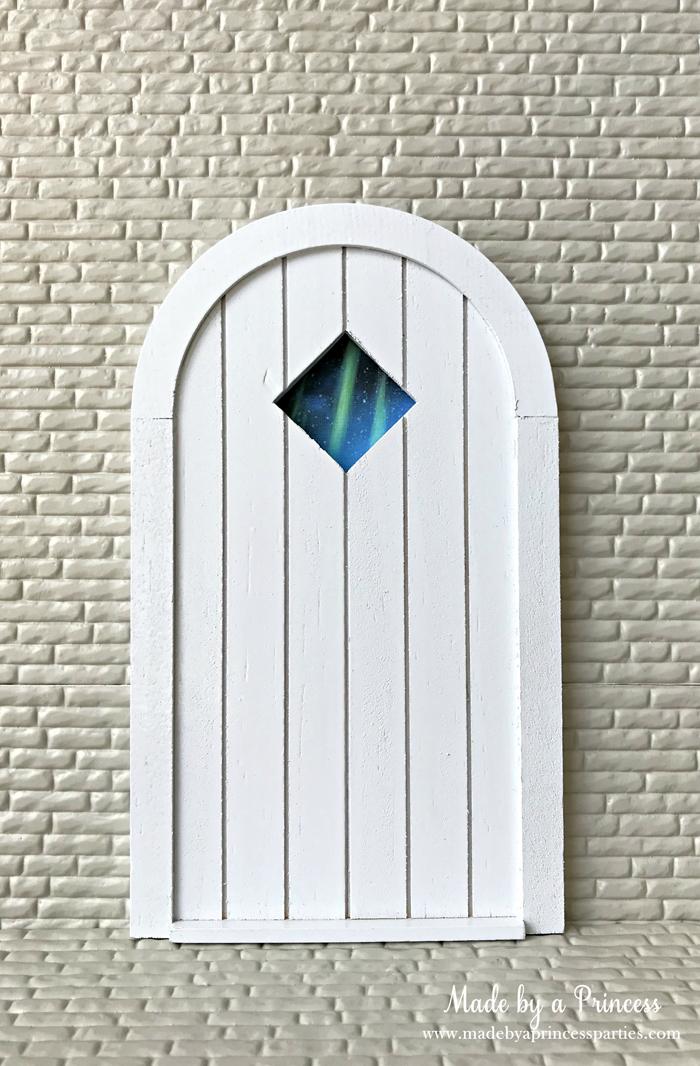 How to Create Your Own Tiny Elf Door Tutorial glue door to backside MadebyaPrincess #elfdoor #fairydoor #elfdoorkit