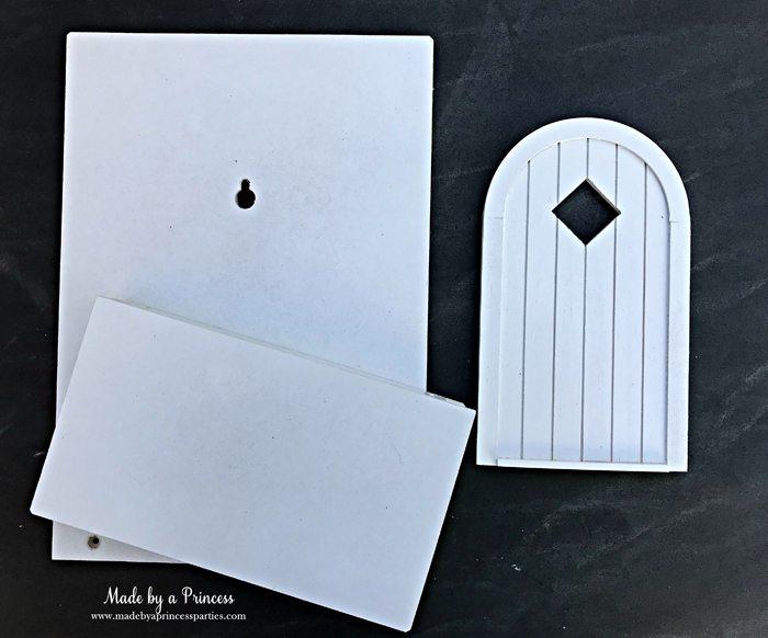 How to Create Your Own Tiny Elf Door Tutorial spray painted door MadebyaPrincess #elfdoor #fairydoor #elfdoorkit