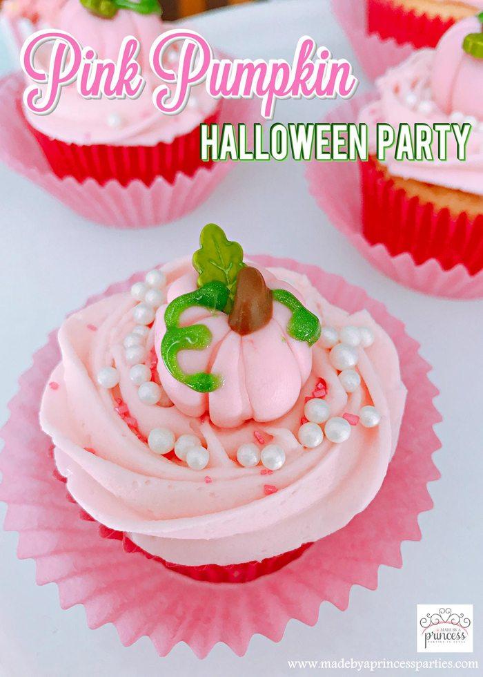 Pink Pumpkin Halloween Party Ideas Made by a Princess #pinkparty #pinkoween #pinkpumpkinparty