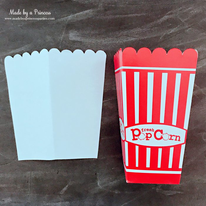 Unicorn Popcorn Box Tutorial make a template from popcorn box @madebyaprincess #popcornboxparty2017