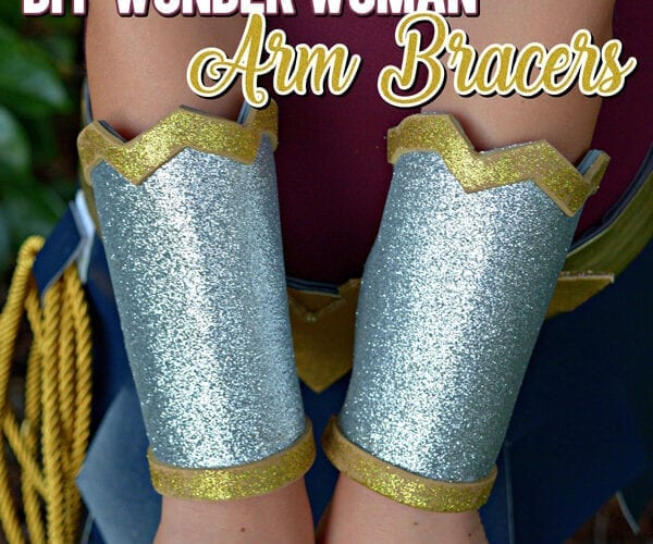 Wonder Woman Arm Bracelets Costume DIY