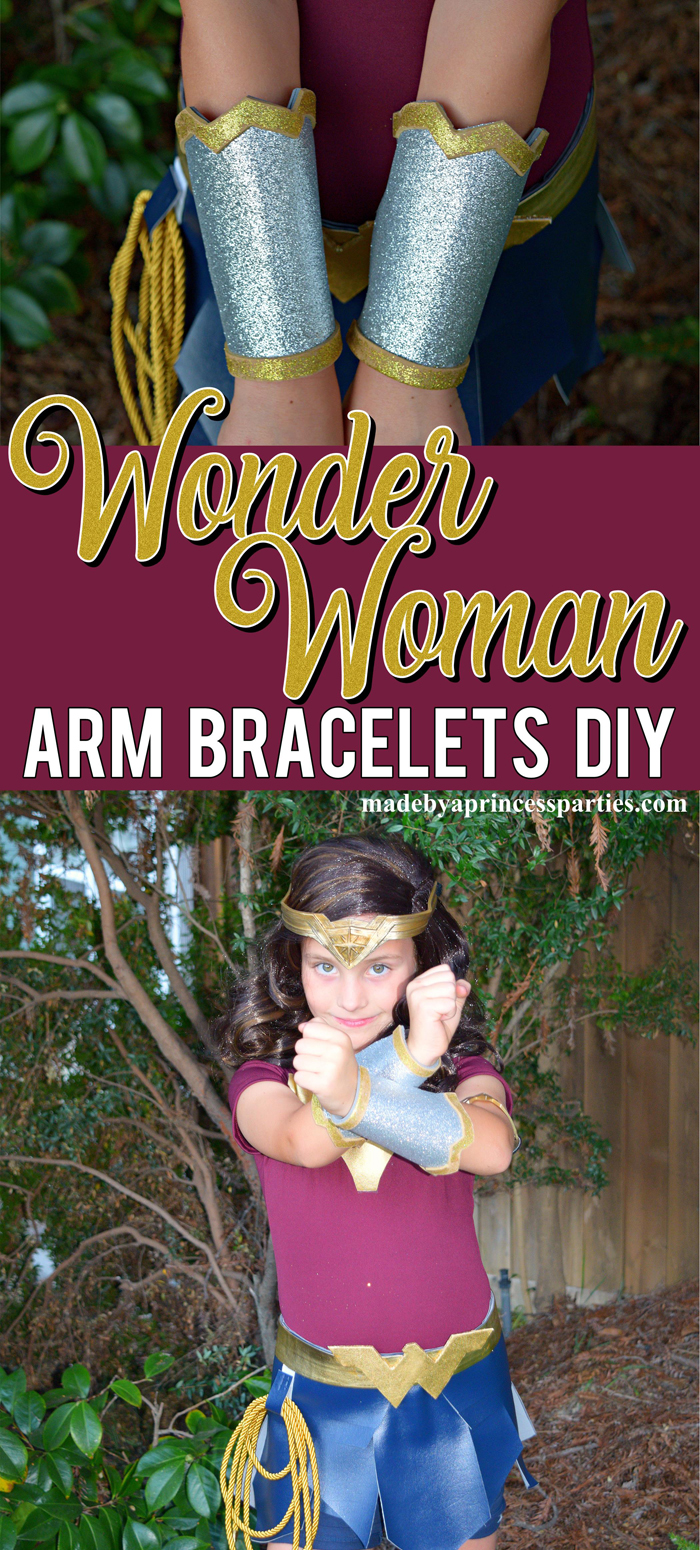Wonder Woman Arm Bracelets Costume DIY will have you ready to save the world and trick or treat