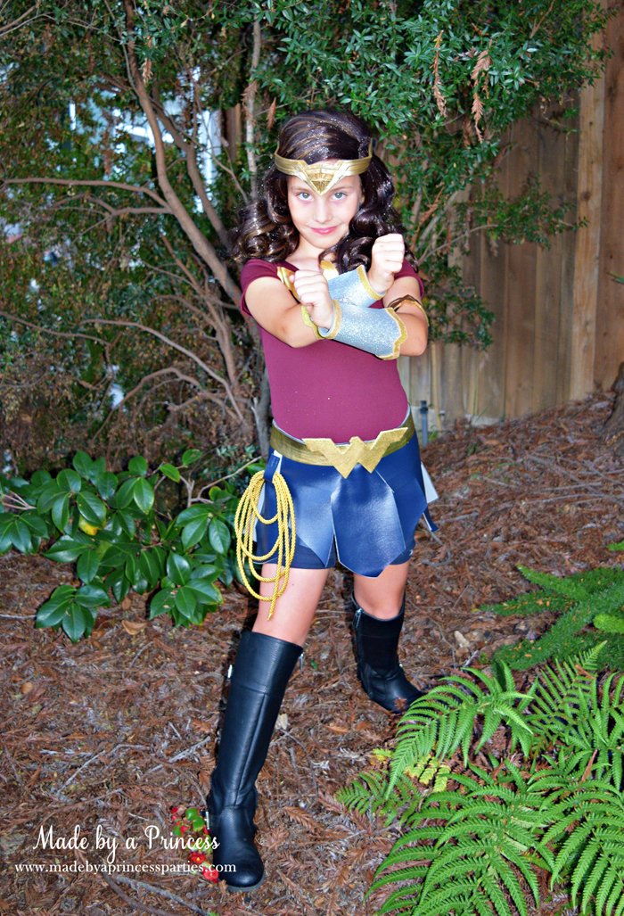 Wonder Woman Movie Costume arm bracers gladiator skirt and eagle leotard MadebyaPrincess #halloweencostume #wonderwoman #galgadot #wonderwomancostume