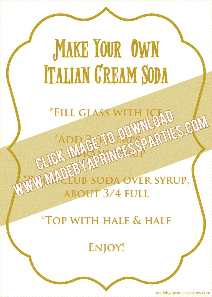 How to Make Italian Cream Soda Party Idea Printable Recipe