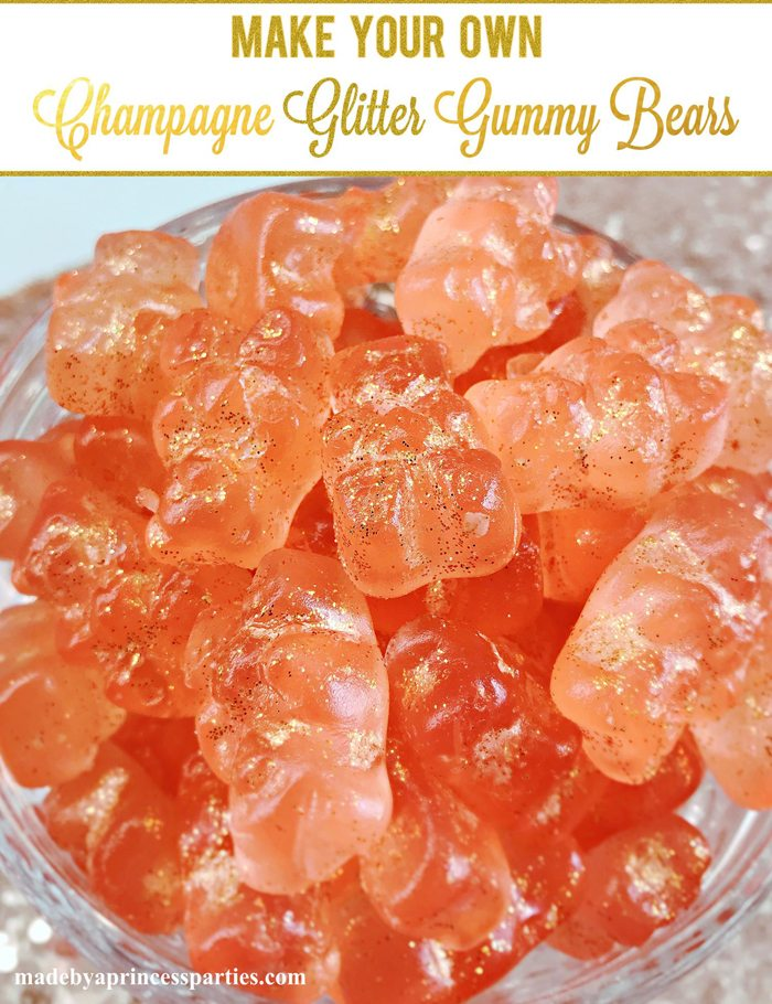 Make Your Own Boozy Glitter Champagne Gummy Bears Recipe Add a Little Sparkle to Your Life