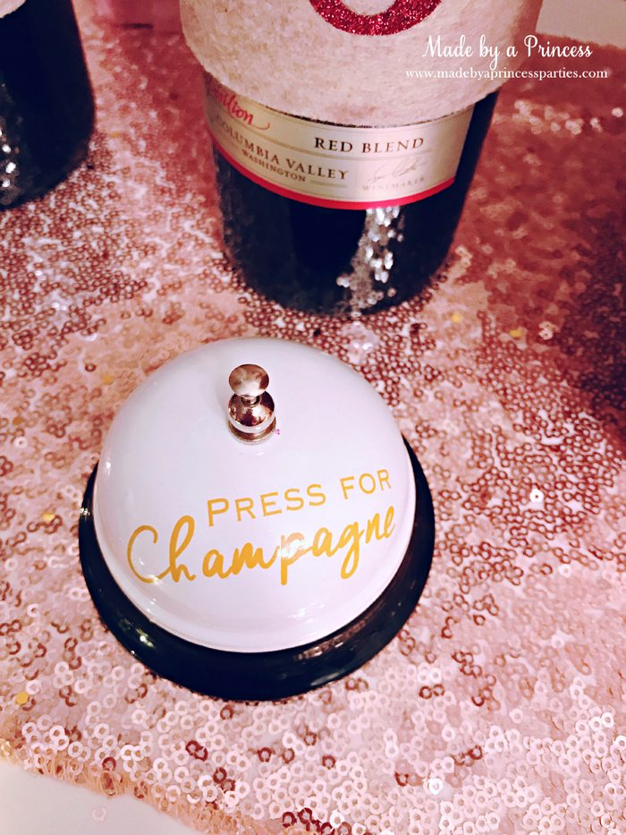 Winter WINEderland Holiday Party Press for Champagne Bell