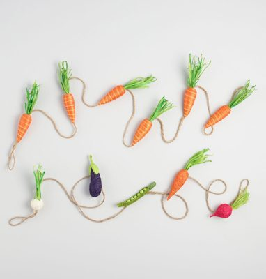 Peter Rabbit Tea Party Inspiration Carrot Garland