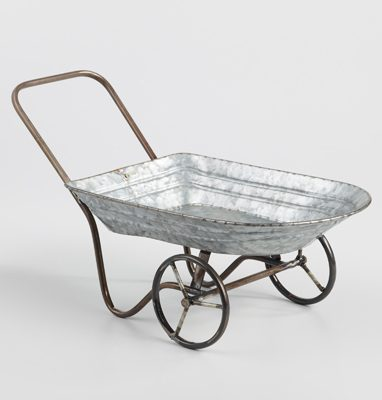 Peter Rabbit Tea Party Inspiration Metal Wheelbarrow