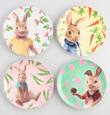 Peter Rabbit Tea Party Inspiration Veggie Plates