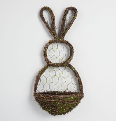 Peter Rabbit Tea Party Inspiration Vine and Wire Bunny Wall Decor