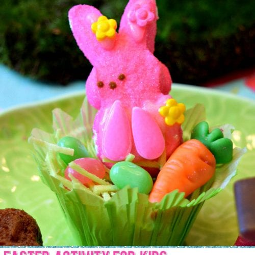 Easy Activity for Kids with Marshmallow Peeps Candy perfect for Easter brunch