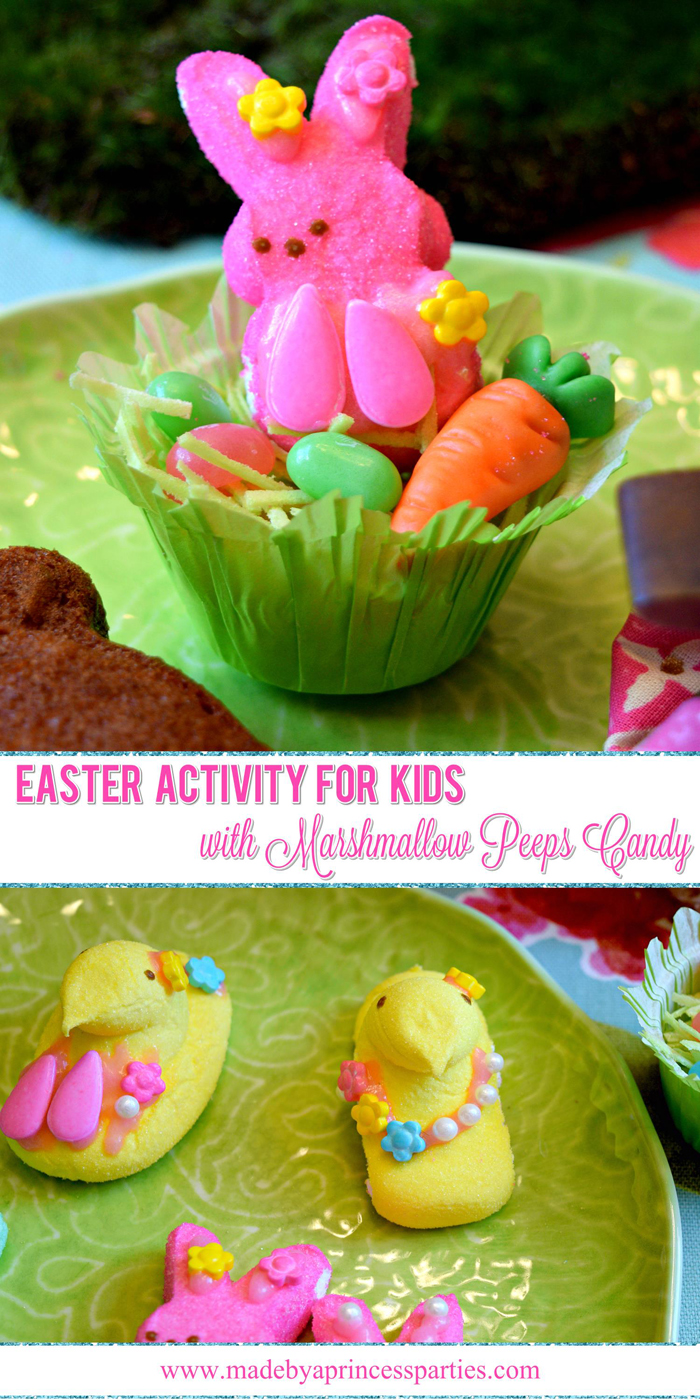 Easy Activity for Kids with Marshmallow Peeps Candy