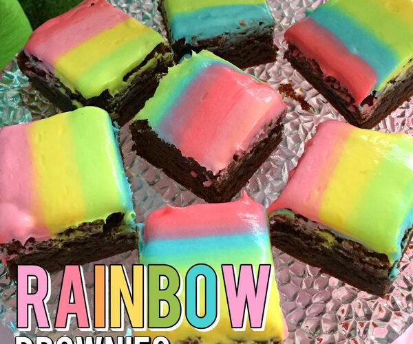 Unicorn Party Rainbow Brownies Recipe