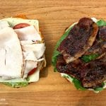 Best Turkey BLT Sandwich Recipe add turkey and candied bacon via @madebyaprincess #turkeysandwich #blt #bltsandwich #bestsandwich #recipe #turkeyblt #madebyaprincess
