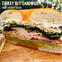The BEST Turkey BLT Sandwich with Candied Bacon