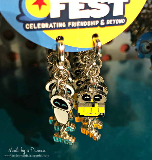 Disneylands Pixar Fest Exclusive Merchandise Eve and Wall E Charms #pixarfestmerchandise #disneycharms #pixarfest #madebyaprincess
