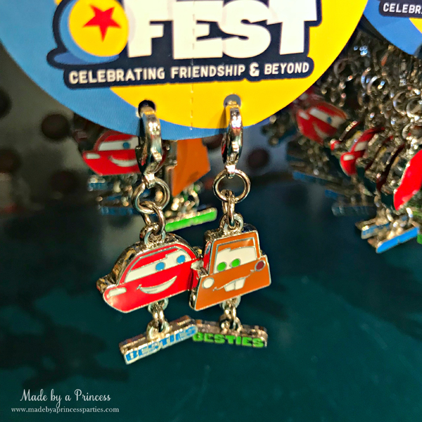 Disneylands Pixar Fest Exclusive Merchandise McQueen and Mater Charms #pixarfestmerchandise #disneycharms #pixarfest #madebyaprincess
