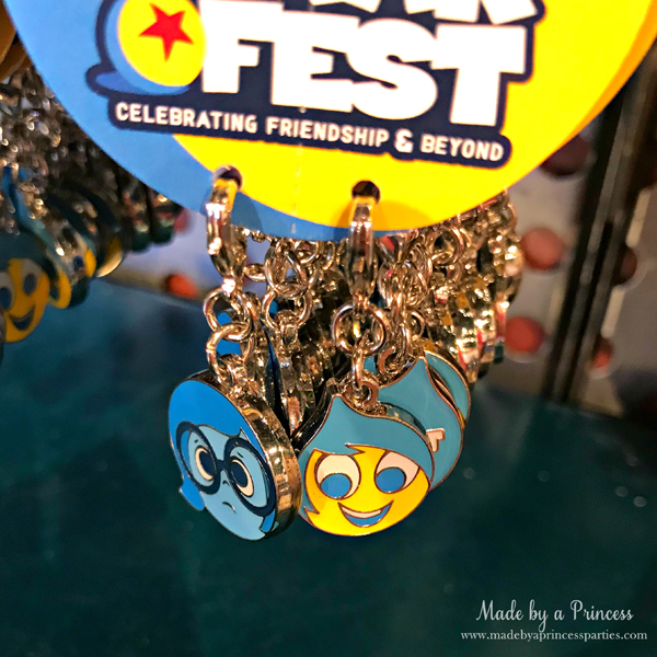 Disneylands Pixar Fest Exclusive Merchandise Sadness and Joy Charms #pixarfestmerchandise #disneycharms #pixarfest #madebyaprincess
