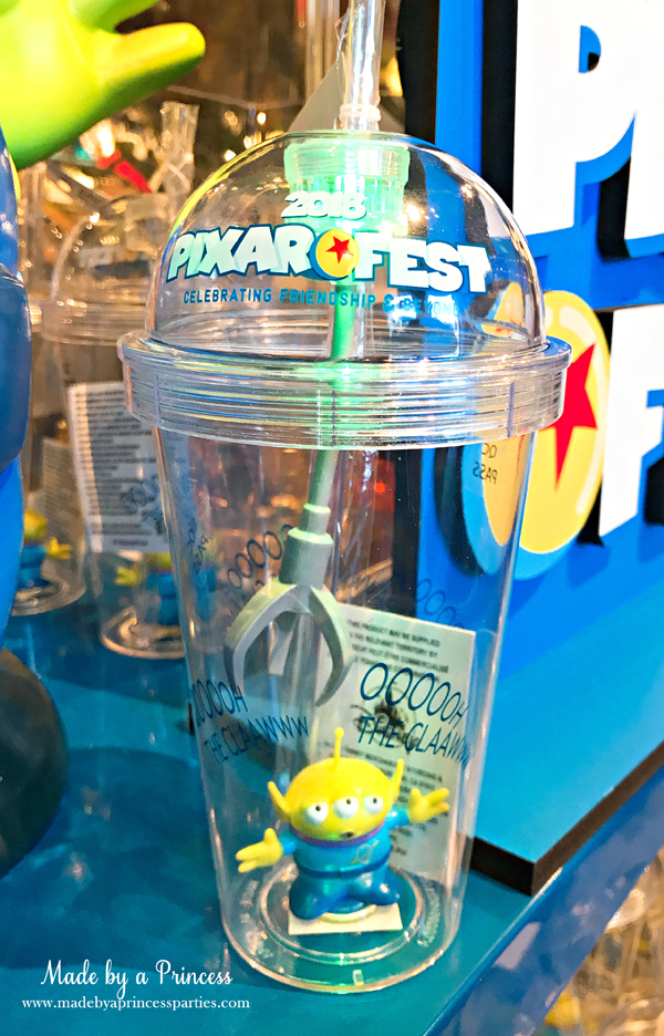Disneylands Pixar Fest Exclusive Merchandise Toy Story Alien Light Up Cup and Claw #pixarfestmerchandise #disneycup #pixarfest #madebyaprincess