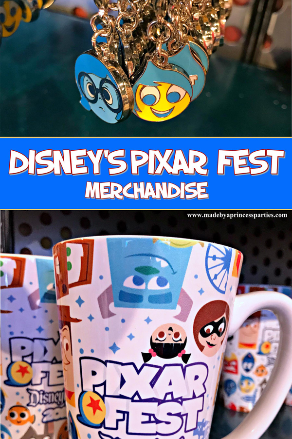 Disneylands Pixar Fest Exclusive Merchandise cute backpack charms and mugs #pixarfestmerchandise #pixarmug #insideoutcharms #pixarfest @madebyaprincess