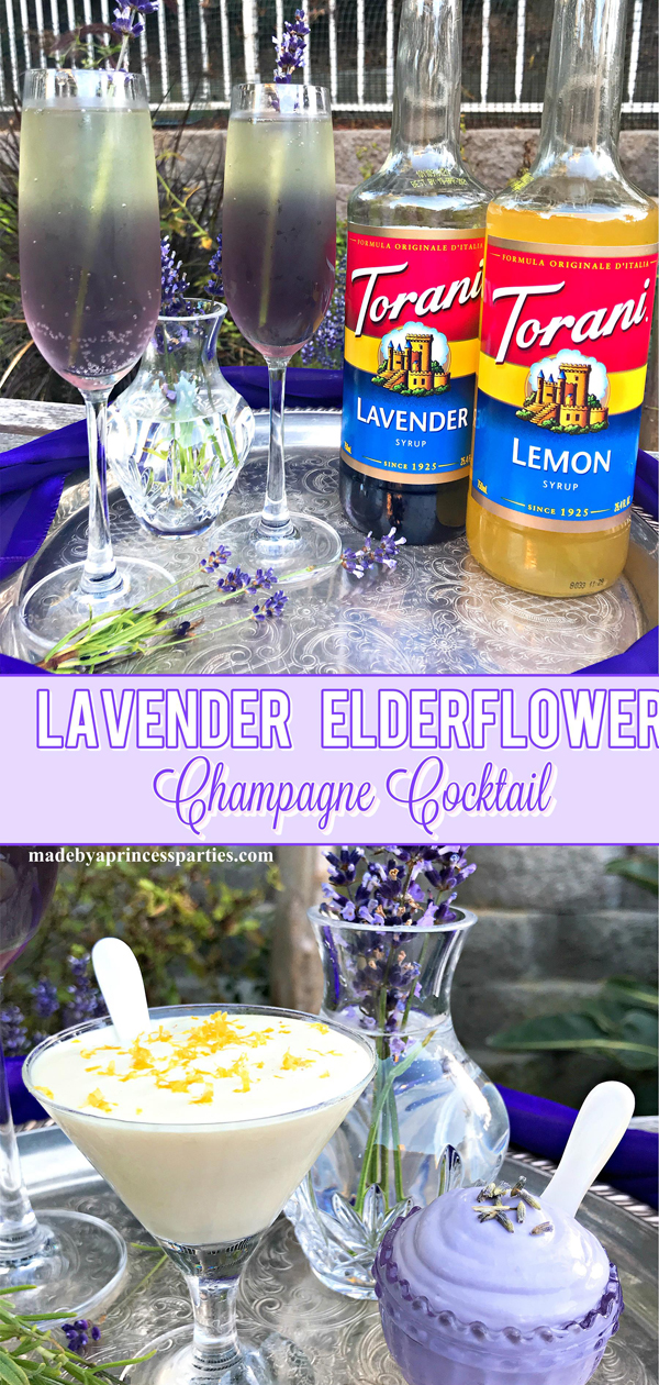 Lavender Elderflower Champagne Cocktail is beautiful and tasty