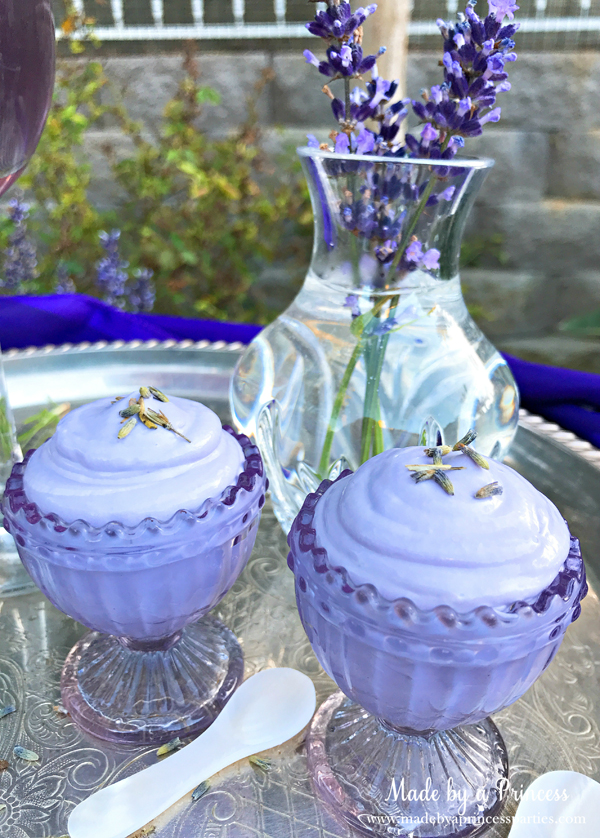 Lavender Mousse is the perfect treat to serve with Lavender Elderflower Champagne Cocktails