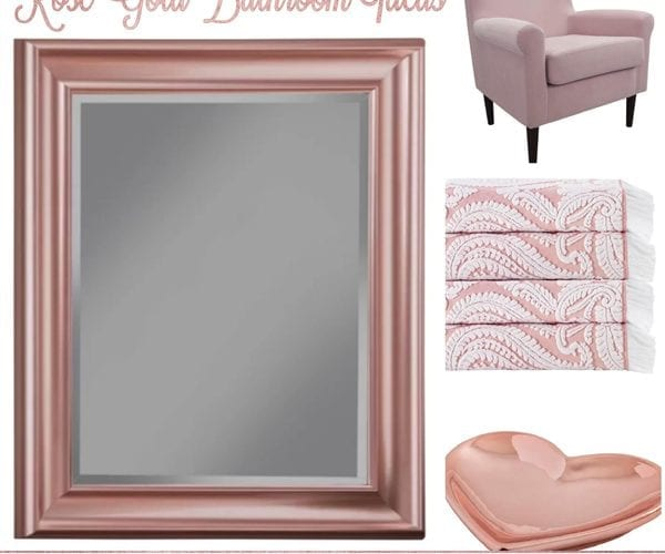 Rose Gold Bathroom Ideas from Wayfair are perfectly pink