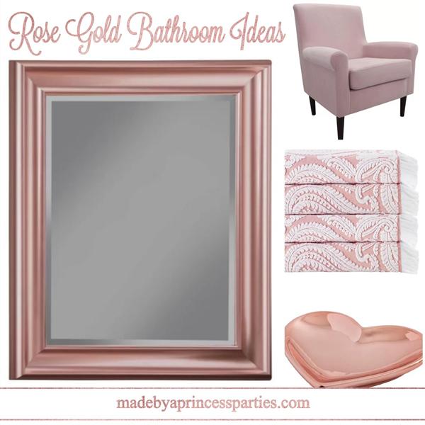 Rose Gold Bathroom Ideas From Wayfair Made By A Princess