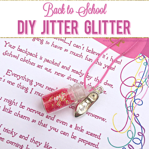 graphic relating to Jitter Glitter Poem Printable called Again in direction of University Mommy Magic Jitter Glitter Card FREEBIE