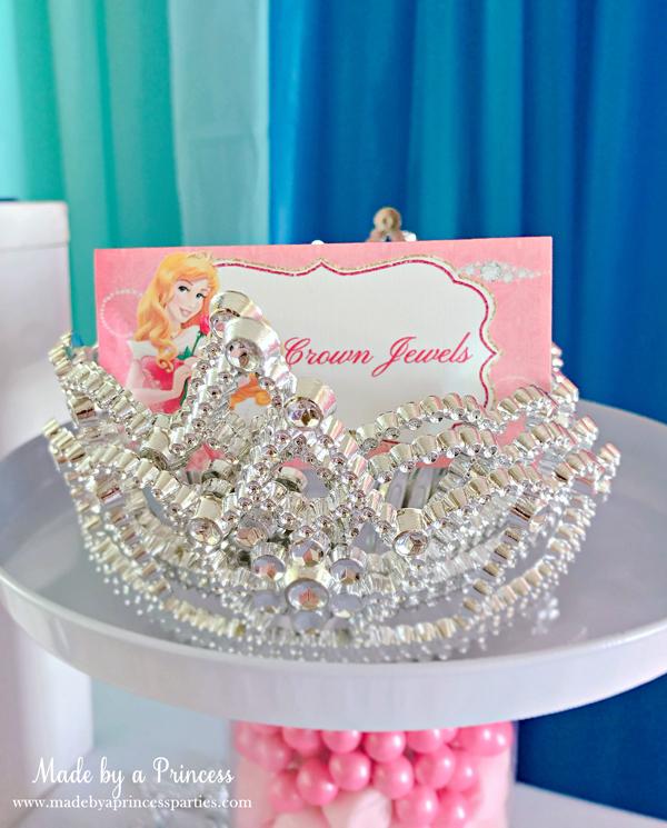 Disney Princess Party Ideas Sleeping Beauty Aurora crown
