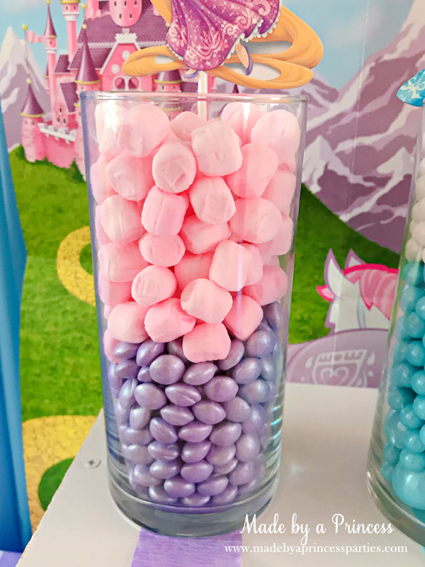 Disney Princess Party Ideas Tangled Rapunzel Candy