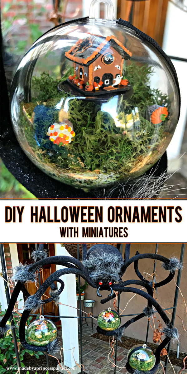DIY Halloween Ornaments are a cute and unique way to decorate this Halloween #halloween #halloweendecor @madebyaprincess