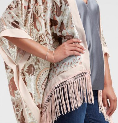 Golden Holiday Entertaining Essentials blush velvet kimono