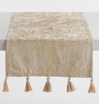 Golden Holiday Entertaining Essentials gold foil table runner