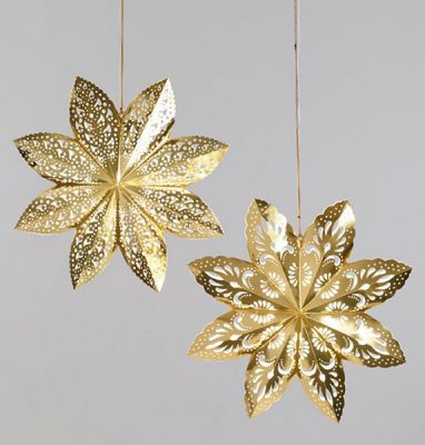 Golden Holiday Entertaining Essentials gold snowflakes