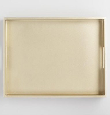 Golden Holiday Entertaining Essentials gold tray