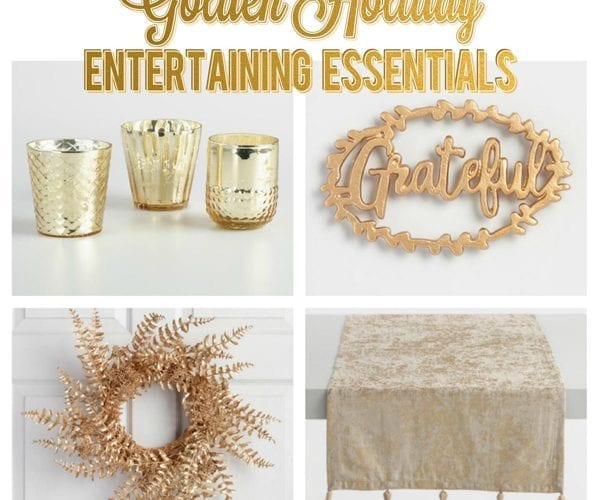 Golden Holiday Entertaining Essentials