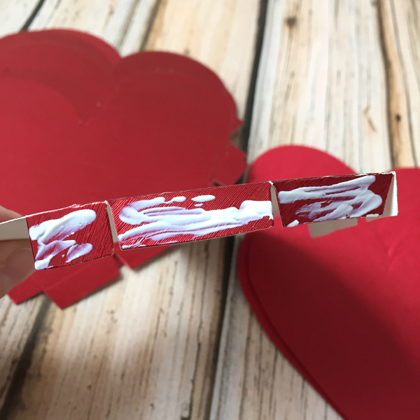 DIY Valentine's Day Countdown Banner with Sizzixheart glue tabs