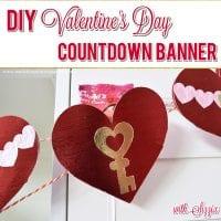 DIY Valentine's Day Countdown Banner